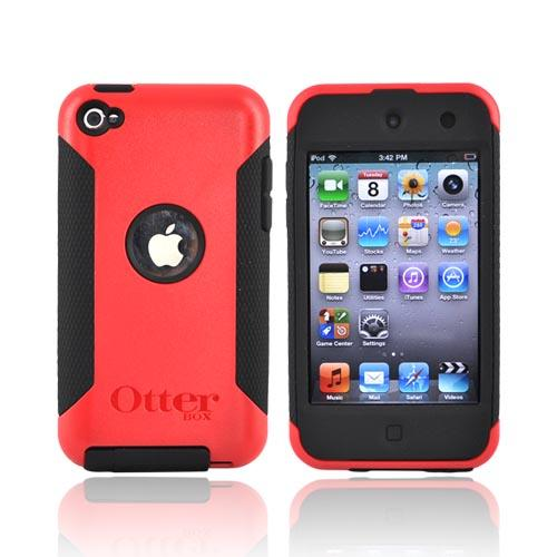 Original Otterbox Commuter Series Apple iPod Touch 4 Hard Case w/ Screen Protector, APL4-T4GXX-B9-E - Red/Black