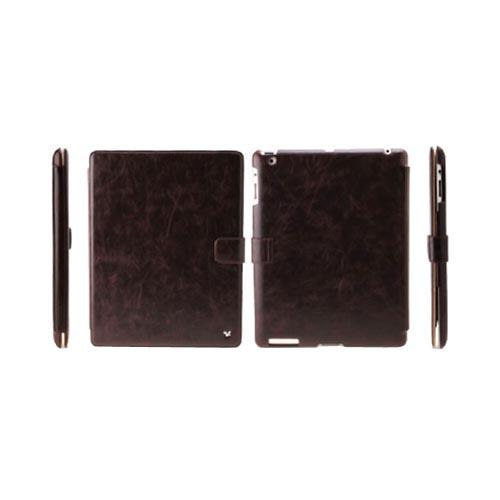 Original Zenus Apple iPad 2 Masstige Band Series Leather Stand Case, APPD2-MLLBD-BC - Dark Chocolate w/ Beige Interior