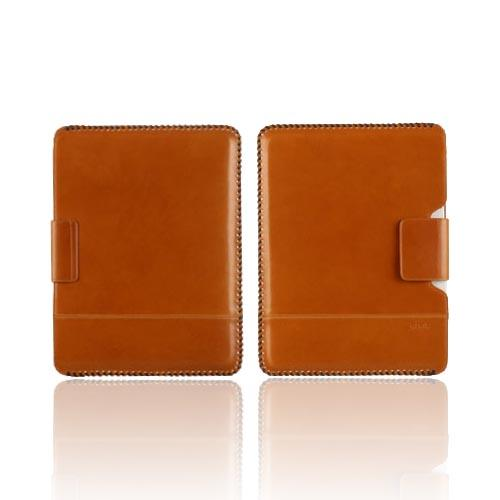 Original Zenus Apple iPad 2 Prestige Handcrafted Stich Leather Pouch Case, APPD2-PH5PO-CW - Camel Brown