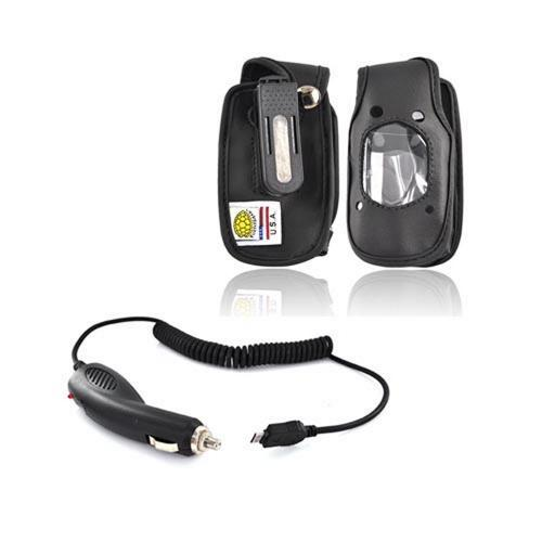 Casio G'zOne Rock Essential Holster w/ Belt Clip and Car Charger Bundle