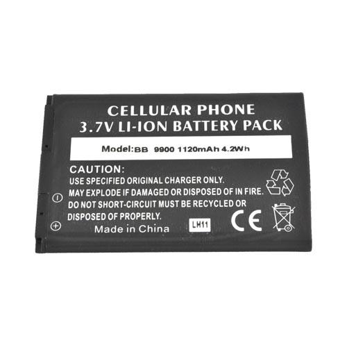 Blackberry Bold 9900, 9930 Standard Battery Replacement (1120 mAh) - Black