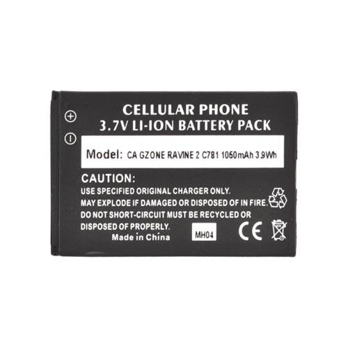 Casio G'zOne Ravine 2 Standard Replacement Battery (1050 mAh) - Black