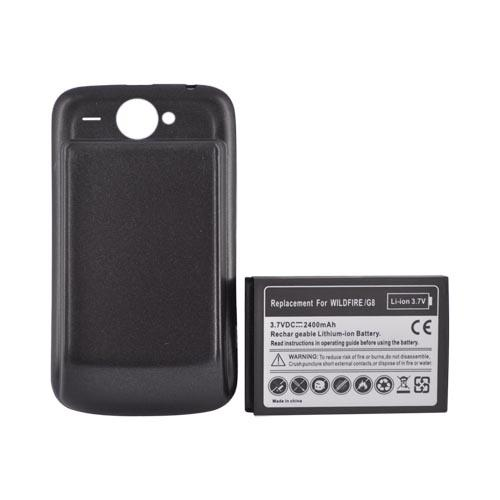 HTC Bee/Wildfire Extended Battery w/ Door - Black (2400mAh)
