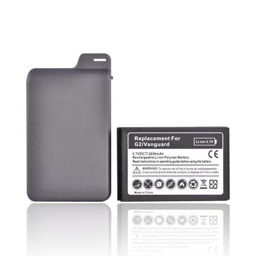 T-Mobile G2 Extended Battery w/ Rubberized Door - Black (2600mAh)