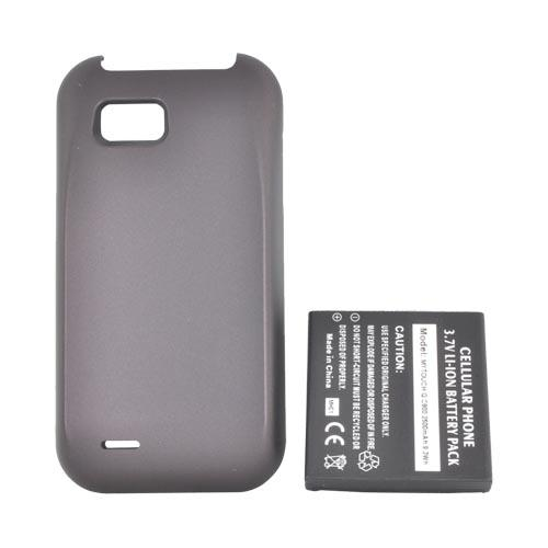 T-Mobile MyTouch Q Extended Battery (2500 mAh) w/ Rubberized Door - Dark Violet