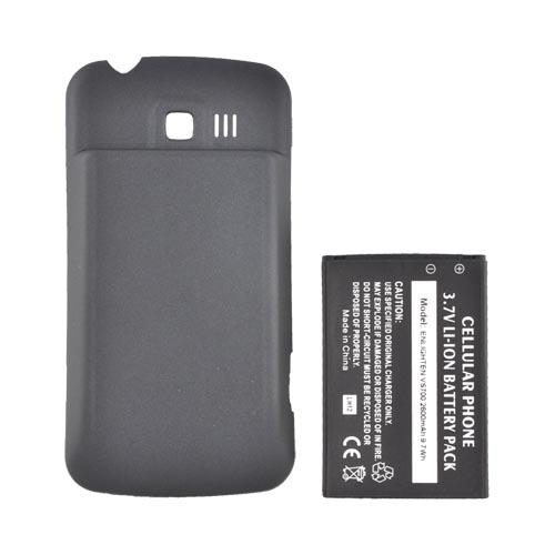 LG Enlighten VS700 Extended Battery (2600 mAh) w/ Rubberized Back Door - Black