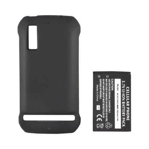 Motorola Photon 4G Extended Battery w/ Door - Black (2600 mAh)