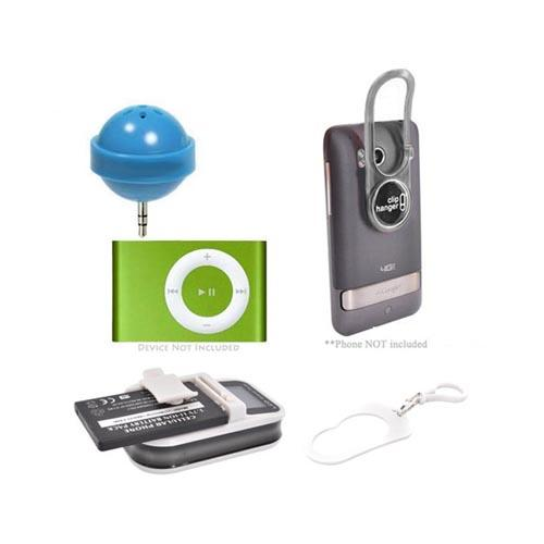 Wise Guy Essential Bundle Package w/ Lollipop Speaker, ClipHanger Stick, Universal Battery Charger, & Water Bottle Holder