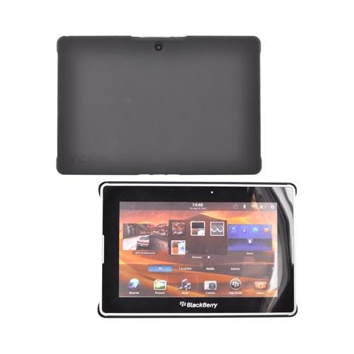 Original Incipio BlackBerry Playbook Feather Rubberized Hard Case, BB-507 - Black