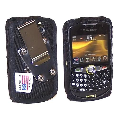 Original TurtleBack Premium Blackberry Curve 8330, 8320, 8310, 8300 Heavy Duty Nylon Case w/ Steel D-Ring Belt Clip - Black