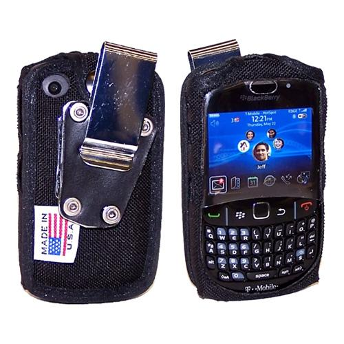 Original TurtleBack Premium Blackberry Curve 3G 9330, 9300, 8520, 8530 Heavy Duty Nylon Case w/ Steel D-Ring Belt Clip - Black