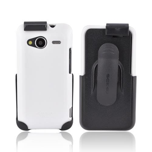 Original Seidio HTC EVO Shift 4G Surface Combo Hard Case w/ Holster, BD2-HR2HTSHF-WH - White/ Black