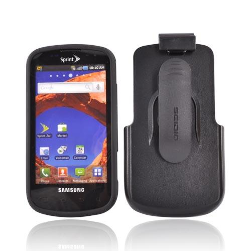 Original Seidio Samsung Epic 4G Innocase Surface Combo Rubberized Hard Case w/ Holster, BD2-HR2SSEPC-BK - Black