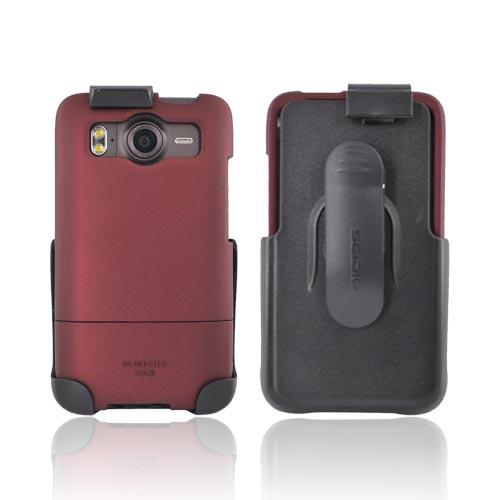 Original Seidio HTC Inspire 4G Surface Combo Rubberized Hard Case w/ Holster, BD2-HR3HTACE-RD - Red/ Black