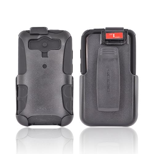 Original Seidio HTC Inspire 4G Convert Combo Hard Case on Silicone & Holster w/ Swivel Clip, & Screen Protector, BD4-HKRHTACE - Black
