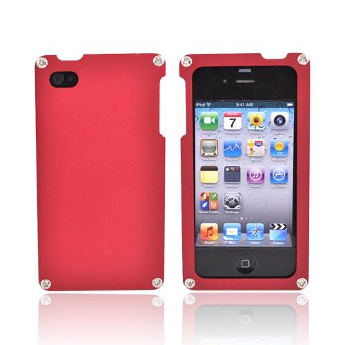 Original BNA Nature AT&T/Verizon Apple iPhone 4, iPhone 4S Aluminum Hard Case & Screen Protector, Exclusively from AccessoryGeeks! BNA-002 - Red
