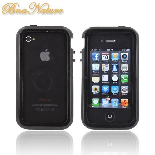 Exclusive Tphone Eco-Design iPhone 4/4S Hand-Finished Wood Sliding Frame Case w/ Screen Protector - Black Sonokeling Wood