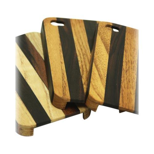 """Exclusive"" TPhone Eco-Design AT&T/ Verizon Apple iPhone 4, iPhone 4S Hand-Finished Wood Hard Back Cover Case - Striped Teak Wood"