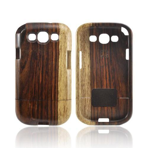 Exclusive Tphone Eco-Design Samsung Galaxy S3 Hand-Finished Wood Sliding Frame Case - Natural Sonokeling Wood