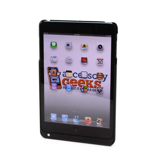 Black Rubberized Hard Charging Case for Apple iPad Mini (6800 mAh)