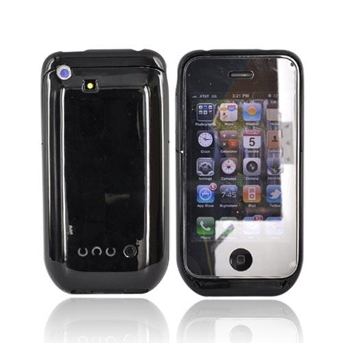Apple iPhone 3G 3Gs Slim Line Rechargeable Battery Case - Glossy Black (1300mah)