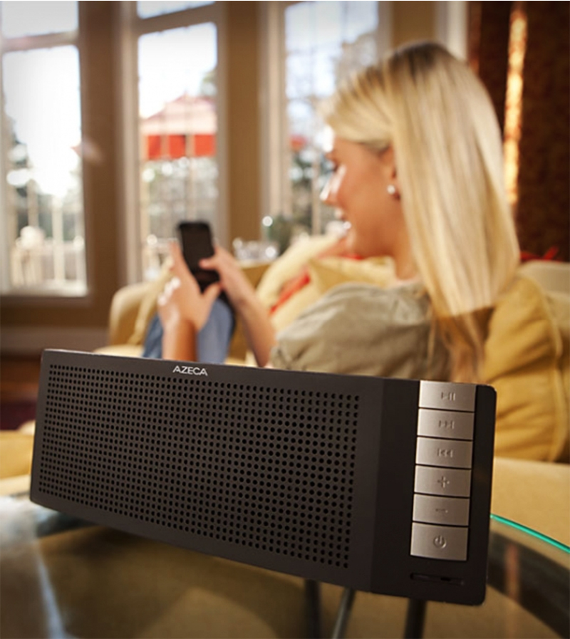 Original Azeca (formerly known as Alva) Universal Bluetooth Stereo Speaker w/ Call Answering, BTS001 - Black