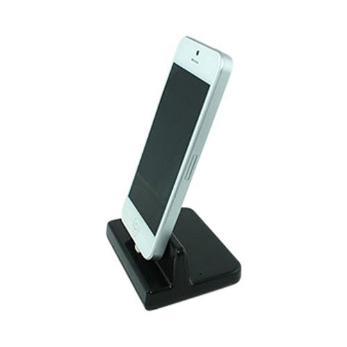 Black Desktop Cradle w/ Lightning Port for Apple iPhone 5/5S/ iPod Touch 5/ iPad Mini/ New iPad