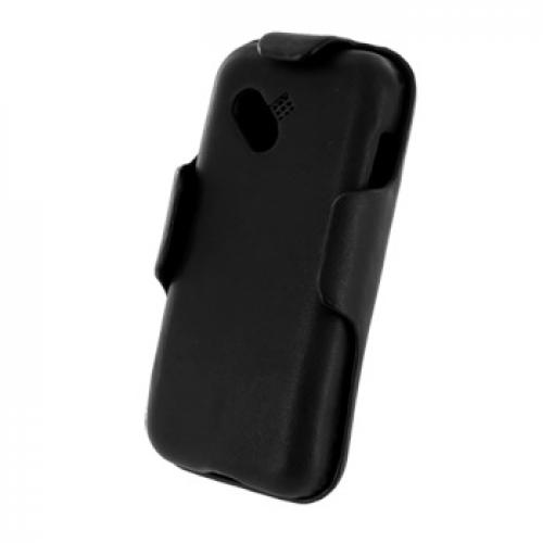 Contour Series T-Mobile Google G1 Leather Case w/ Holster & Swivel Clip - Black