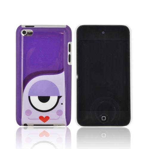 Original Psyclops Apple iPod Touch 4 Syndi Hard Case - Purple Cyclops w/ Red Lips