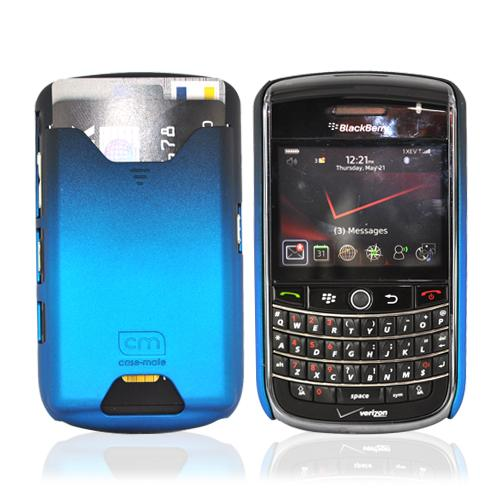 Original Case-Mate Barely There Blackberry Tour 9630 Rubberized I.D Hard Case & Screen Protector - Gradient Royal Blue, CM010210