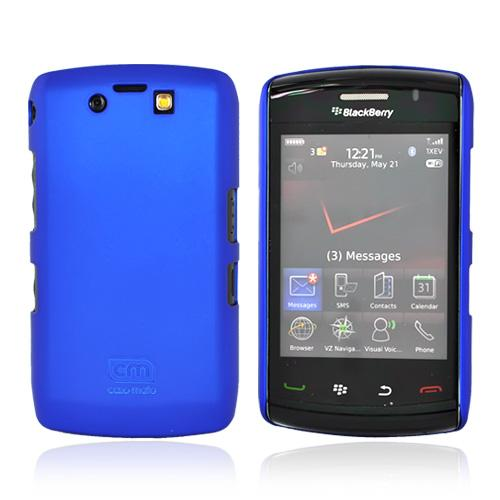 Original Case-Mate Blackberry Storm 2 9550 Barely There Rubberized Hard Case w/ Screen Protector - Blue, CM010358