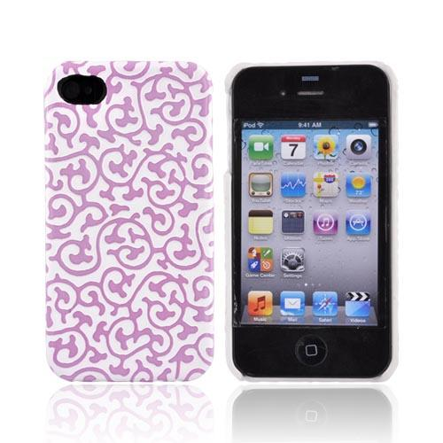 Original Case-Mate Apple Verizon/ AT&T iPhone 4, iPhone 4S IVY Textured Back Cover w/ Screen Protector, CM011716 - Pink/White Ivy