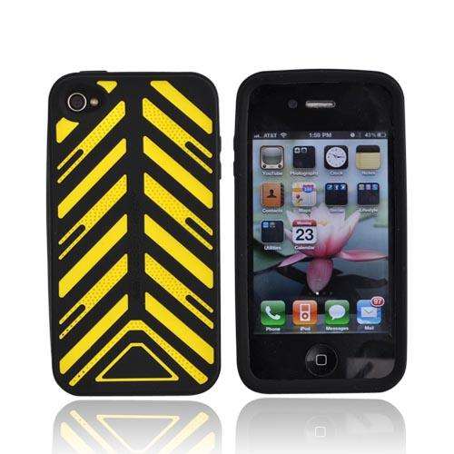 Original Case-Mate Apple iPhone 4 Torque Silicone Case w/ Screen Protector, CM0118107 - Yellow/Black