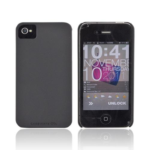 Original Case-Mate AT&T/ Verizon Apple iPhone 4, iPhone 4S Barely There Rubberized Hard Case, CM015546 - Black