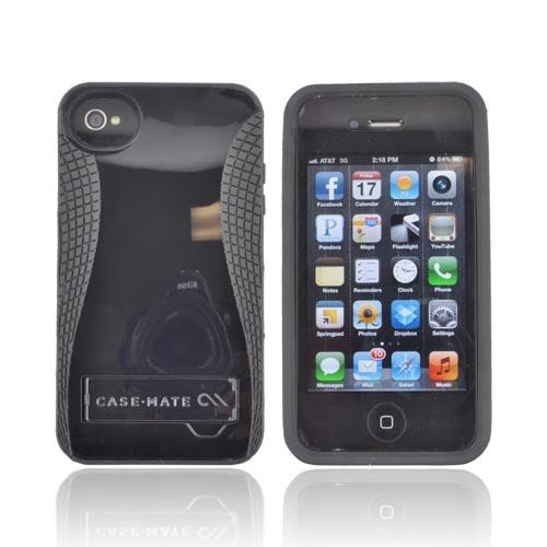 Original Case-Mate AT&T/ Verizon Apple iPhone 4, iPhone 4S POP! Hard Case w/ Kickstand, CM017865 - Black