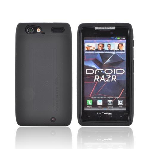 Original Case-Mate Motorola Droid RAZR Tough Rubberized Hard Case on Silicone, CM018150 - Black