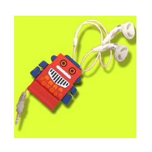Universal Headset Cord Wrapper - Red Robot