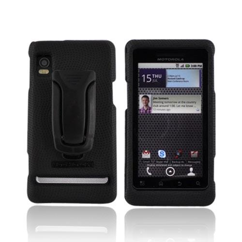 Original Body Glove Motorola Droid 2 A955 Snap On Hard Case w/ Adjustable Stand and Clip, CRC91480 - Black