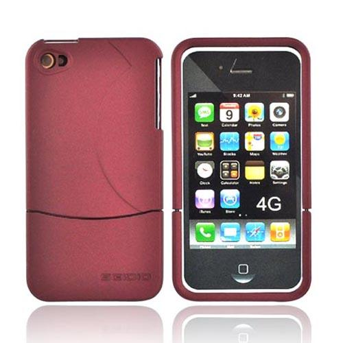 Original Seidio Apple Verizon/ AT&T iPhone 4, iPhone 4S Innocase Surface Rubberized Hard Case, CSR3IPH4P-RD - Burgundy