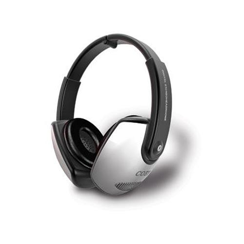 Original Coby Universal Deep Bass Foldable Stereo Headset, CV-163 - Black/White (3.5mm)