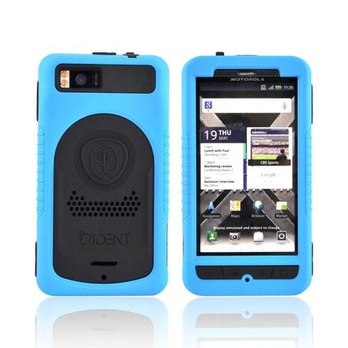 Original Trident Cyclops II Motorola Droid X MB810/ X2 Anti-Skid Hard Cover Over Silicone Case w/ Screen Protector, CY2-DX2-BL - Blue/ Black