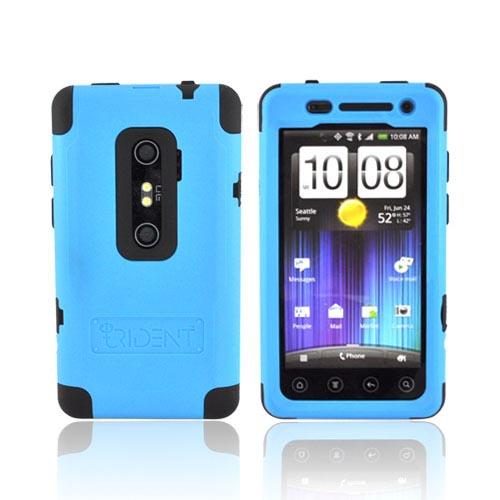 Original Trident Cyclops II HTC EVO 3D Anti-Skid Hard Cover Over Silicone w/ Screen Protector, CY2-EVO-3D-BL - Blue/ Black