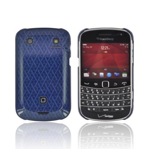 Original Dicota Blackberry Bold 9900, 9930 Hard Case, D30377 - Blue Woven Design