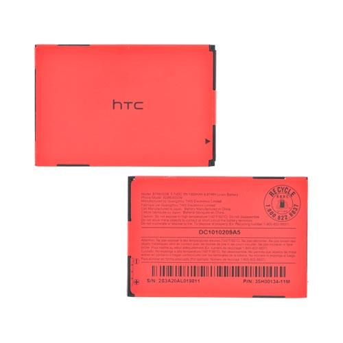 Original HTC Droid Incredible Standard Replacement Battery (1300 mAh), BTR6300B - Black/ Red