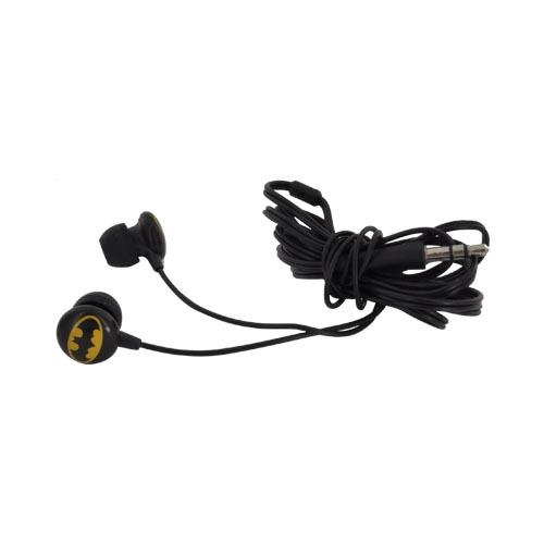 Original iHip Universal Batman Noise-Reduction Earbuds (3.5mm), DCF10163BM - Black/ Yellow