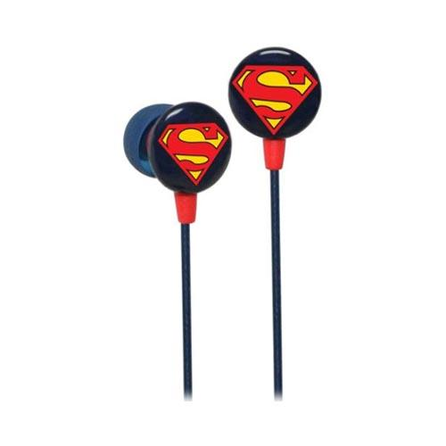 Original iHip Universal Superman Noise-Reduction Earbuds (3.5mm), DCF10163SM - Blue/ Red/ Yellow