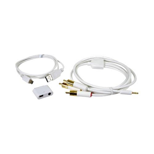 Original iSound Apple iPhone iPod AV Cables and Adapter (3.5mm), DGIPOD-296 - White