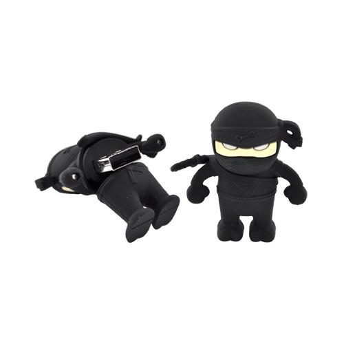 Original Bone Collection Universal USB Flash Drive, DR10011-4BK - Black Ninja (4GB)