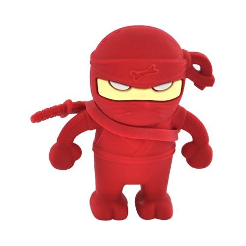 Original Bone Collection Universal USB Flash Drive, DR10011-4R - Red Ninja (4GB)