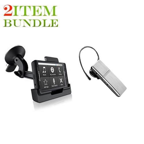 Motorola Droid X Bundle Package - Motorola Vehicle Window Suction Mount & LG HBM-810 Hands-free Bluetooth Car Kit w/ Removable Headset - (Roadster Combo)